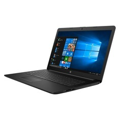 "Ноутбук HP 17-by0164ur, 17.3"", Intel Core i7 7500U 2.7ГГц, 8Гб, 1000Гб, 128Гб SSD, AMD Radeon 530 - 2048 Мб, DVD-RW, Free DOS, 5CT25EA, черный"