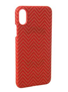 Аксессуар Чехол Pitaka Aramid Case для APPLE iPhone X Red-Orange KI8007X