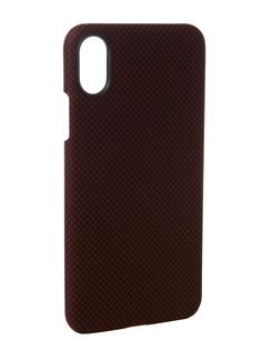 Аксессуар Чехол Pitaka Aramid Case для APPLE iPhone X Black-Red Plain KI8004X