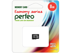 Карта памяти 8Gb - Perfeo Micro Secure Digital HC Class 10 PF8GMCSH10ES
