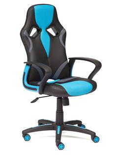 Компьютерное кресло TetChair Runner искусственная кожа, ткань Black-Light Blue 36-6/23