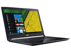 Ноутбук Acer Aspire A515-51G-80UW NX.GUFER.001 Black (Intel Core i7-8550U 1.8 GHz/6144Mb/1000Gb/No ODD/nVidia GeForce 940MX 2048Mb/Wi-Fi/Cam/15.6/1366x768/Windows 10 64-bit)