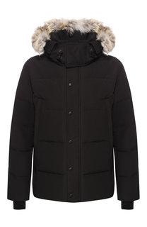 Пуховая куртка Wyndham на молнии с капюшоном Canada Goose