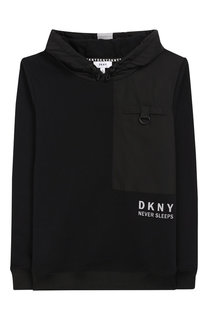 Хлопковое худи DKNY