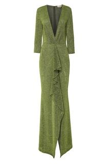 Зеленое вечернее платье A LA Russe