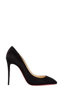 Черные велюровые туфли Eloise 100 Christian Louboutin
