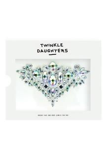 Патч для тела «треугольник» с кристаллами мультиколор Twinkle Daughters
