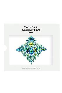 Патч для тела «ромб» с зелеными кристаллами Twinkle Daughters