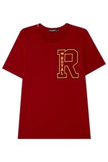 Красная футболка с принтом Dolce & Gabbana
