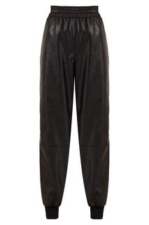 Черные брюки с золотистыми молниями Stella Mc Cartney