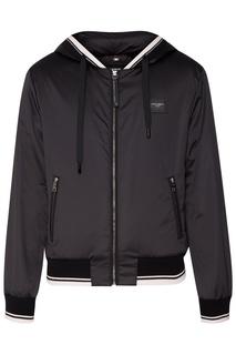 Черная куртка с капюшоном Dolce & Gabbana