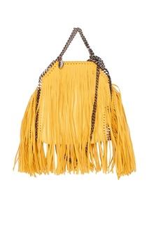 Желтая сумка из эко-кожи Falabella Stella Mc Cartney