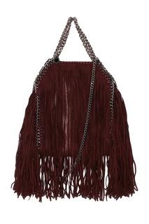 Бордовая сумка из эко-кожи с бахромой Falabella Stella Mc Cartney