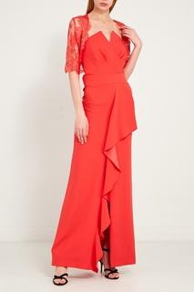 Красное платье с драпировкой Moskada