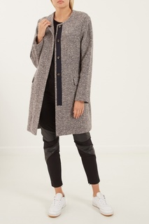 Серое пальто с кашемиром Amina Rubinacci