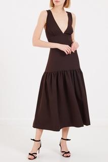 Коричневое платье-сарафан Laroom