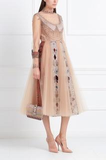 Пышное платье с отделкой Valentino