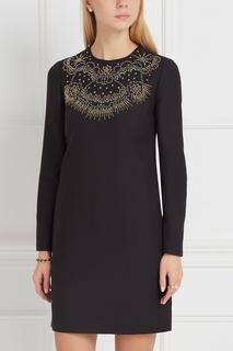 Платье с аппликацией из заклепок Valentino