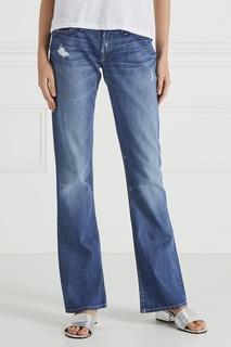 Потертые джинсы-клеш 7 For All Mankind