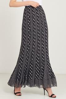 Длинная шелковая юбка с контрастным принтом Diane Von Furstenberg