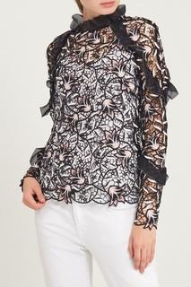 Ажурная блузка с лилиями Self Portrait