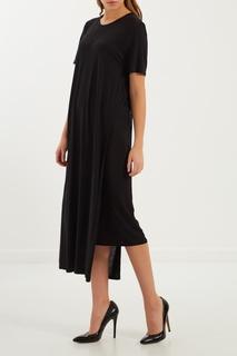 Черное трикотажное платье макси Acne Studios