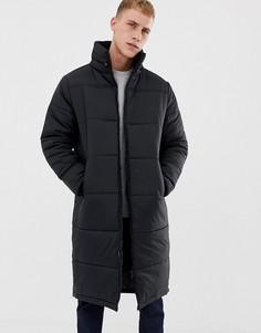 Удлиненная стеганая куртка Another Influence - Черный