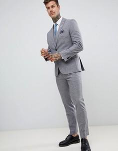 Серые брюки слим Harry Brown - Серый