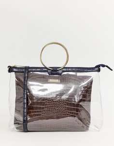 Прозрачная сумка River Island - Коричневый