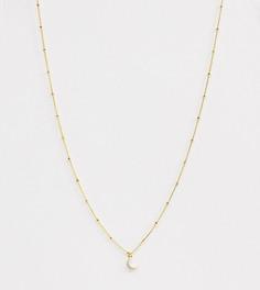Ожерелье с позолотой из 18-каратного золота и подвеской Astrid & Miyu - Золотой