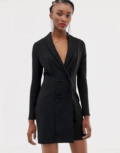 Черное платье-смокинг New Look - Черный