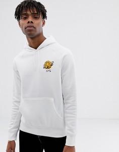 Худи белого цвета с цветочным принтом Nike SB Icon 937835-100 - Белый