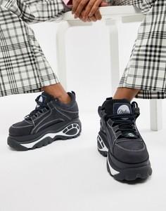 Классические темно-синие низкие кроссовки на контрастной платформе Buffalo - Мульти