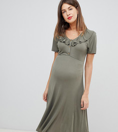 Приталенное платье миди для кормящих мам ASOS DESIGN Maternity - Зеленый