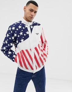 Спортивная куртка с принтом Reebok Mobius USA DU2758 - Белый