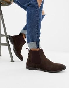 Коричневые замшевые ботинки челси Ben Sherman - Коричневый