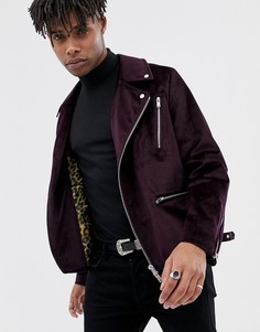 Фиолетовая велюровая байерская куртка ASOS EDITION - Фиолетовый