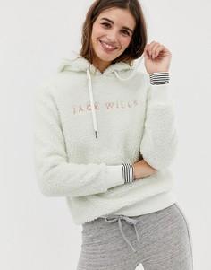 Худи из флиса с вышитым логотипом Jack Wills - Белый