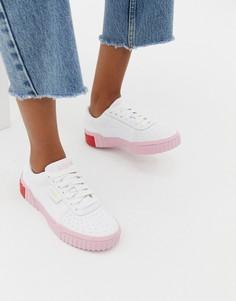 Бело-розовые кроссовки Puma Cali - Белый