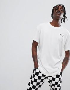 Белая футболка с принтом less hate more skate Globe - Белый