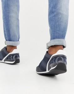 Темно-синие кроссовки с сетчатой отделкой BOSS - Темно-синий