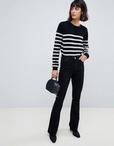 Черные расклешенные джинсы ASOS DESIGN - Черный