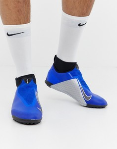 Синие кроссовки Nike Football React Phantom Pro Astro Turf AO3277-400 - Синий