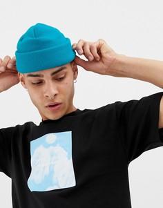 Ярко-синяя шапка-бини ASOS DESIGN - Синий