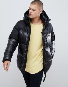 Черная стеганая куртка с капюшоном G-Star Whistler - Черный