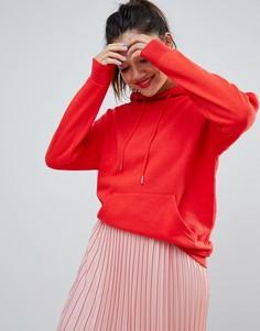 Ярко-красный худи свободного кроя New Look - Красный