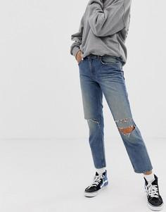 Укороченные джинсы в стиле 90-х из переработанного и органического хлопка Cheap Monday - Синий