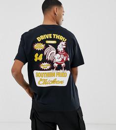 Oversize-футболка с принтом курицы и надписью drive thru Reclaimed Vintage Inspired - Черный