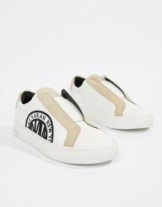 Кроссовки-слипоны с замшевыми вставками DKNY Callie - Белый