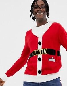 Рождественский джемпер с Санта-Клаусом Brave Soul - Красный